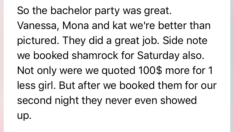 bachelor party review