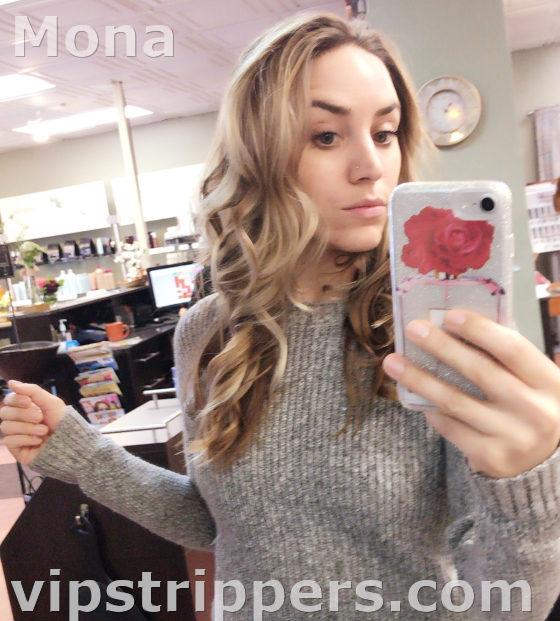 Mona selfie, Vermont stripper